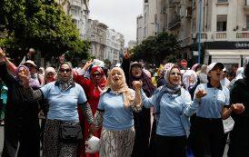 حضور وازن لشبيبة و نساء حزب 'الحمامة' في مسيرة نصرة فلسطين بالدارالبيضاء