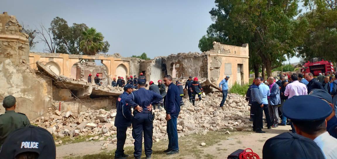 صور | قتلى و جرحى في انهيار ثكنة عسكرية بوجدة و البحث جار عن آخرين تحت الأنقاض
