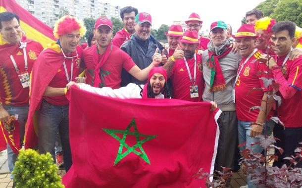 مباشر/المنتخبين المغربي و الاسباني يصلان لملعب كالينينغراد و جماهير البلدين تحتفل تحت الأمطار