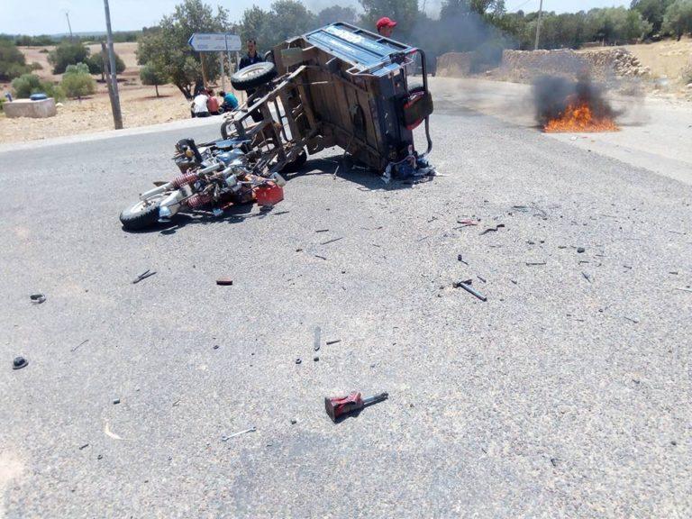 صور/ وفاة رئيس جماعة سابق في حادثة مروعة بمراكش ومواطنون يحتجون