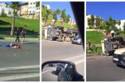 فيديو 18+ . حادثة سير مروعة تبعثر رأس شخص وسط الطريق بطنجة !