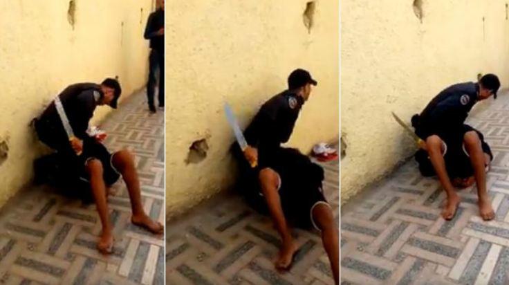 توقيف شخص ببلقصيري ظهر وهو يحمل أسلحة بيضاء على الفيسبوك والبحث جارٍ عن مرافقيه