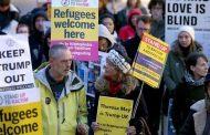 بالفيديو/الألاف من البريطانيين يتظاهرون إحتجاجاً على زيارة ترامب