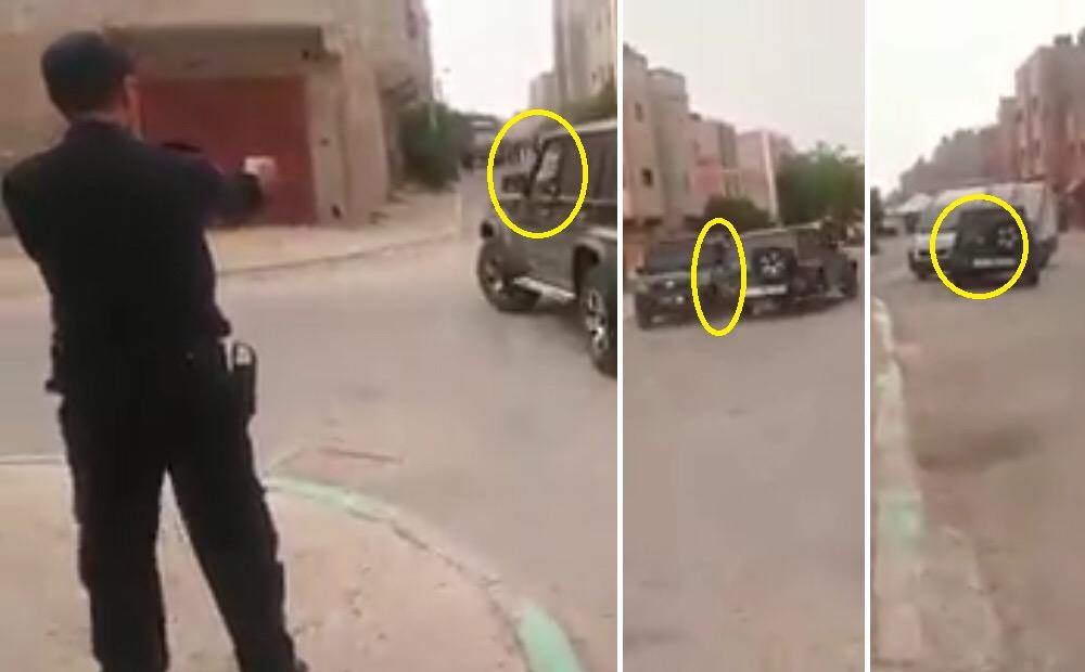 مديرية الأمن تبحث عن شخص روع الشرطة والمواطنين بسيارة رباعية الدفع بالعيون