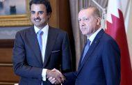 أمير قطر يعلن تضامنه مع أردوغان بضخ 15 مليار دولار بشكل مباشر في الاقتصاد التركي