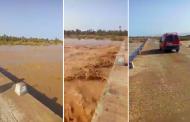 فيديو | واد درعة يهيج بالمياه بعد تساقطات مطرية مهمة في الأطلس و الجنوب !
