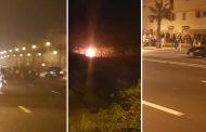 فيديو/فوضى عارمة وإحراق لعجلات السيارات في الاحتفال بعاشوراء بالرباط