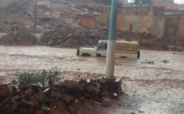 صور/ أمطار عاصفية تُغرق جماعات سيدي إفني و مواطنون يترقبون الأسوء !