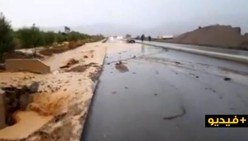 فيديو/ الأمطار تفضح هشاشة أوطوروت تازة-الحسيمة الذي كلف 400 مليار !