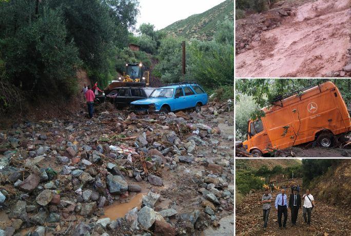 صور/ إقليم الحوز منكوب بعد هطول أمطار غزيرة تسببت في انجرافات للتربة و إتلاف حقول !
