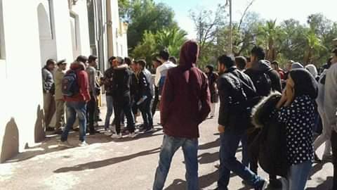 طلبة يحتجون بتارودانات على اقصائهم من المنحة الجامعية