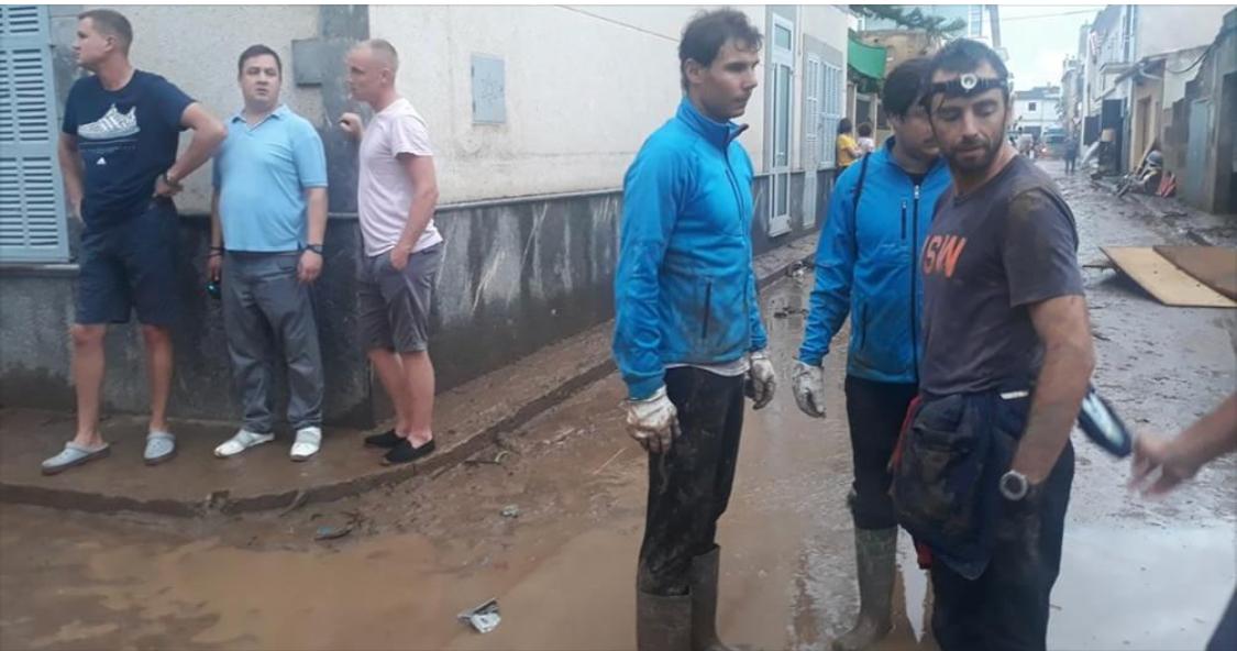 درسٌ لنجوم الشيشا لدينا/نجم التنس العالمي 'رافاييل نادال' يُشارك في إغاثة المتضررين من الفيضانات بجزيرة مايوركا