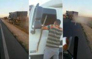 فيديو/ مطاردة هوليودية بالهراوات لسائق شاحنة فر من محطة الوقود دون أن يؤدي فاتورة 1000 درهم !