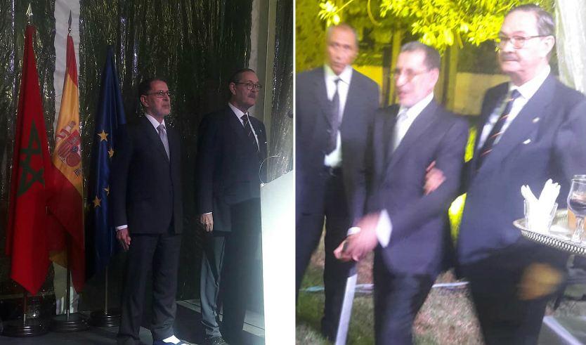 صور/ فضيحة .. العثماني يحضر احتفال سفارة مدريد بالعيد الوطني لإسبانيا دون أن يقول كلمة !