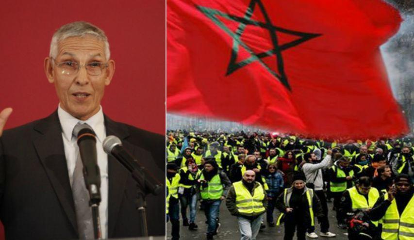 احتجاجات 'السترات الصفراء' تثير مخاوف حكومة العثماني .. و الداودي يهدد شركات المحروقات !