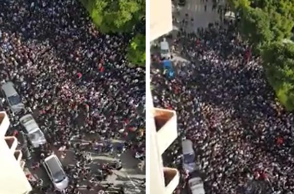 فيديو | حشود غفيرة من التلاميذ بوجدة يحتجون على الساعة الإضافية !
