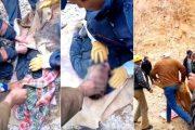 فيديو | انتشال جثة أصغر ضحايا انهيار مقلع للمعادن بجرادة !