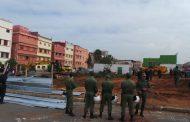 صور/ إعدام متنفس طبيعي بحي شعبي في الدار البيضاء لبناء مركز للسيارات يثير غضب السكان !
