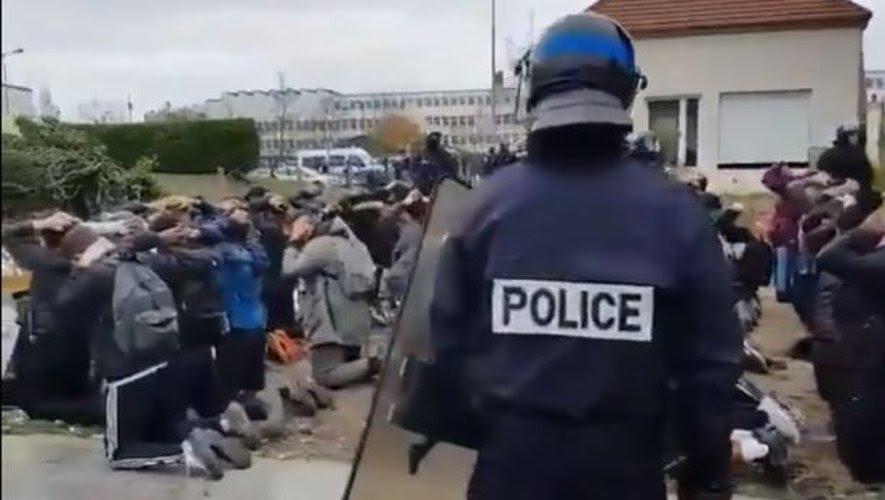 غضب تلاميذي عارم بفرنسا بسبب إهانة الشرطة للطلبة ينذر بإحراق باريس غداً السبت