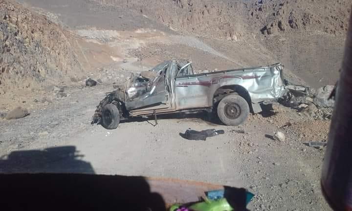 مصرع شخص و إصابة آخر في حادثة سير مروعة بطانطان !
