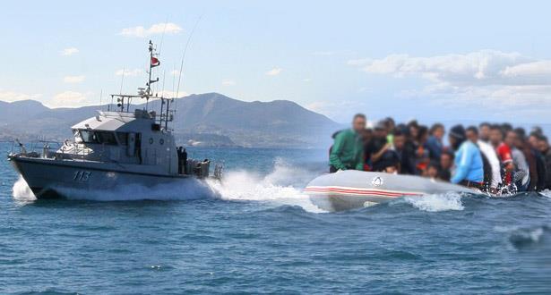 البحرية الملكية تنقذ 169 مهاجراً من أفريقيا جنوب الصحراء على متن قوارب مطاطية بسواحل شمال المملكة