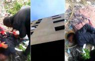 فيديو | أفارقة يقذفون بزميلهم من فوق إقامة مهجورة بالرباط !