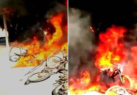 فيديو | حريق مهول يأتي على محلات تجارية ببوجدور و يخلف خسائر جسيمة !
