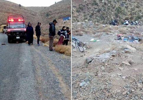 فاجعة بالصور/ مقتل 6 أشخاص في حادث سير مروع بجبال أزيلال !