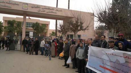 مستشفى بركان غارق في الفوضى وحراس الأمن يحتجون !