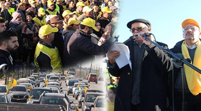 الزاير يقود مسيرة حاشدة بالسيارات إلى طنجة احتجاجاً على العثماني و يؤكد أن الحوار الإجتماعي وصل النفق المسدود !