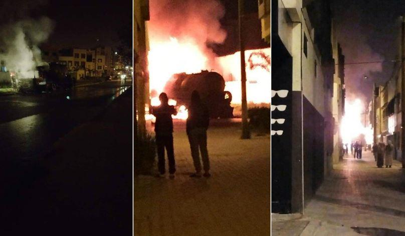 فيديو/ حي سكني بالقنيطرة ينجو من كارثة بعد احتراق شاحنة !