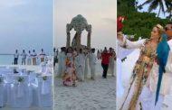 فيديو/رجل أعمال مالديفي يتزوج مغربية ويقيمُ حفل زفاف أسطوري بـ'العمارية' !
