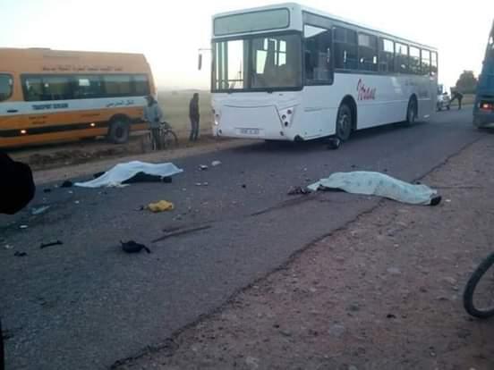 مقتل زوجين في حادثة سير مروعة باشتوكة !