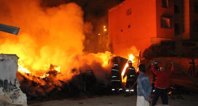 صور/ تفحم جثة طفل و إصابة رضيع بحروق بليغة في حريق منزل بستي فاطمة !