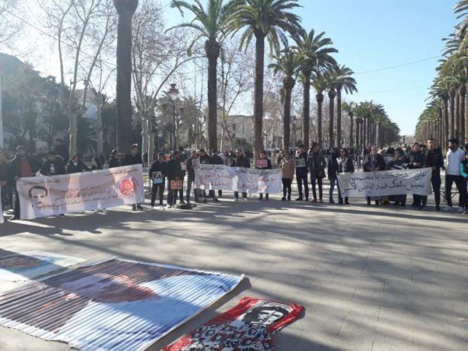 صور/ إنزال يساري كبير لدعم عائلة 'آيت الجيد' أمام محكمة فاس مقابل تراجع 'أنصار حمي الدين' !