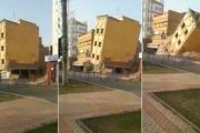 فيديو | لحظة انهيار منزل وسط مدينة الفقيه بنصالح !