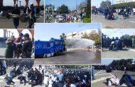 صور وفيديو/ القوات العمومية تفرق عشرات الآلاف من الأساتذة بالقوة أمام القصر الملكي !