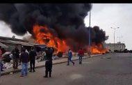 فيديو | حريق مهول يدمر سوقاً لـ