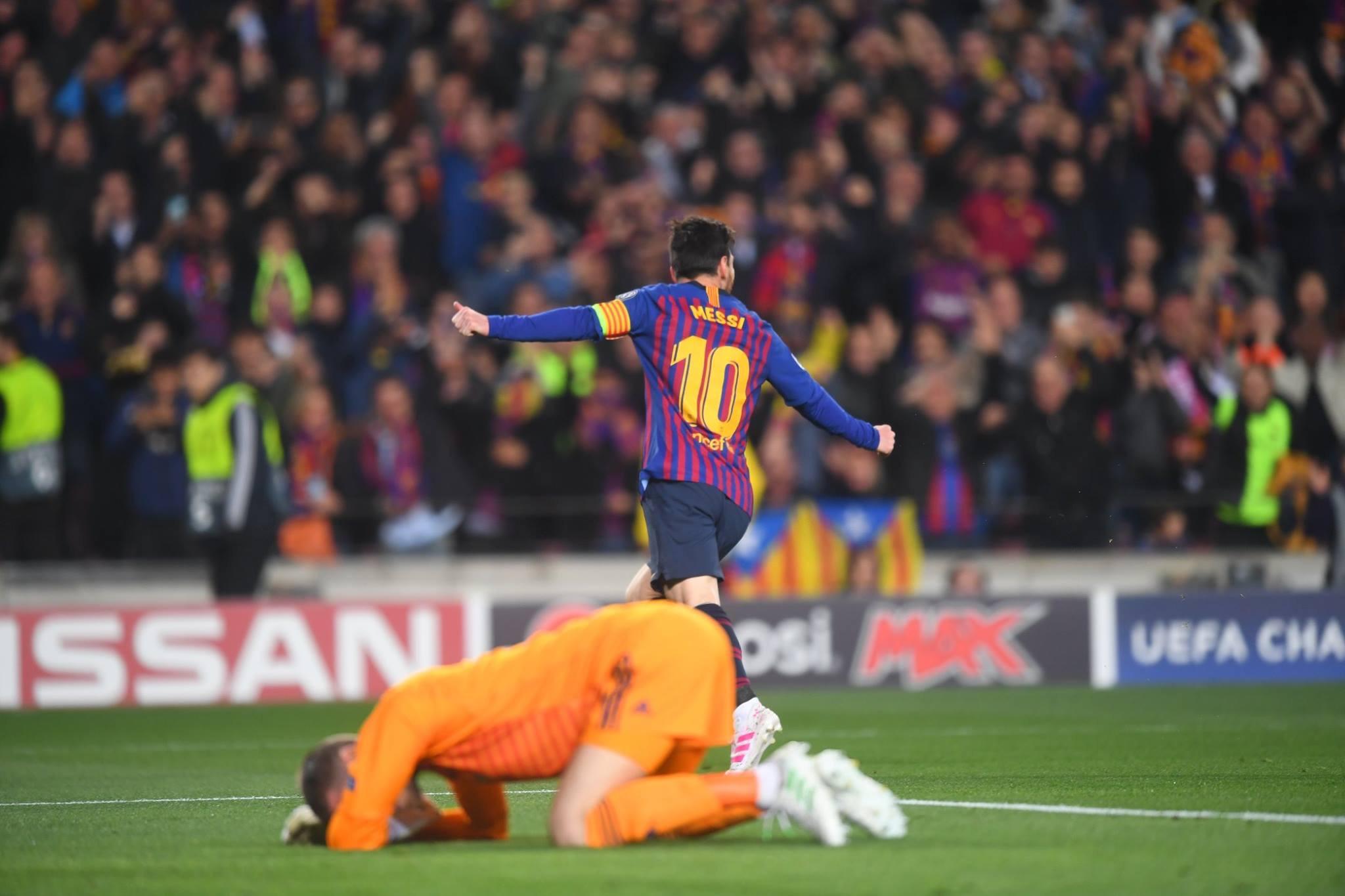 ميسي يدك شباك مانشستر يونايتد ذهاباً وإياباً ويقود برشلونة لنصف نهائي أبطال أوربا