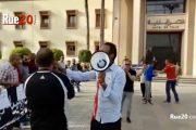 فيديو/إحتجاجات على مجلس المدينة لإنقاذ 'الكوكب المراكشي' بمشاركة الدولي السابق 'البهجة'
