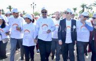وزارة الصحة والمنطمة العالمية للصحة تحتفلان باليوم العالمي للصحة بالرباط بمسيرةٍ للتحسيس بأهمية رياضة المشي