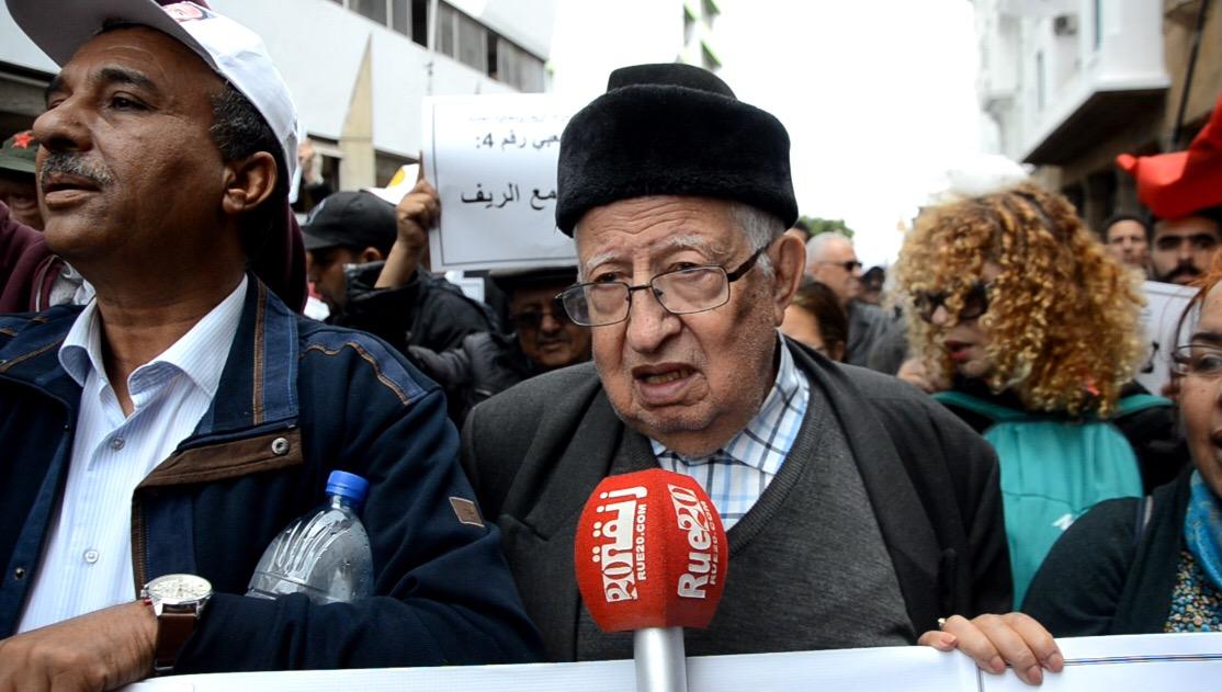 فيديو/قيادات يسارية في مسيرة المطالبة بإطلاق سراح معتقلي الريف