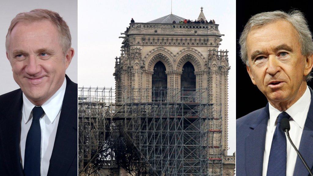 مليارديران فرنسيان يتبرّعان بـ300 مليون يورو لترميم كاتدرائية نوتردام المحترقة !