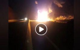 فيديو/ حريق مهول يأتي على شاحنة و يغلق الطريق السيار أكادير-مراكش !