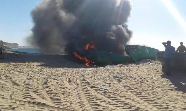 إحراق 12 قارباً للصيد بالداخلة لهذا السبب !