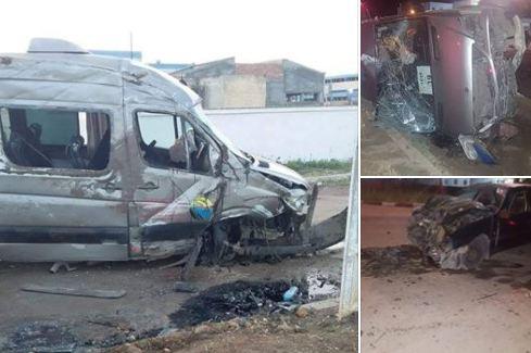 صور/ اصطدام مميت لحافلة نقل المستخدمين يودي بحياة شابة بسيدي سليمان !