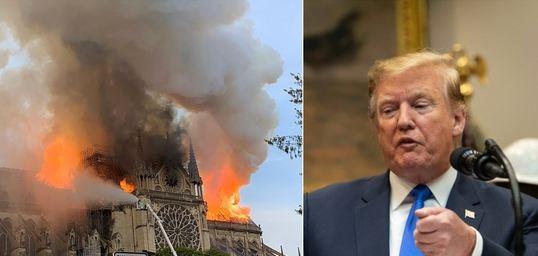 ترامب تعليقا على حريق نوتردام : أمر مروع للغاية !