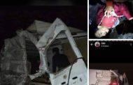 صور/ مشجعون وداديين ينجون من الموت في حادثة سير مروعة قرب بنجرير !