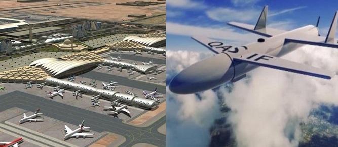 الحوثيون يطلقون طائرة بدون طيار مُحمٓلة بصاروخ لتفجير مطار سعودي