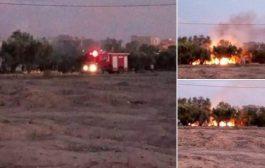 صور/ حريق يأتي على ضيعة فلاحية بجرسيف و يخلف ورائه خسائر جسيمة !